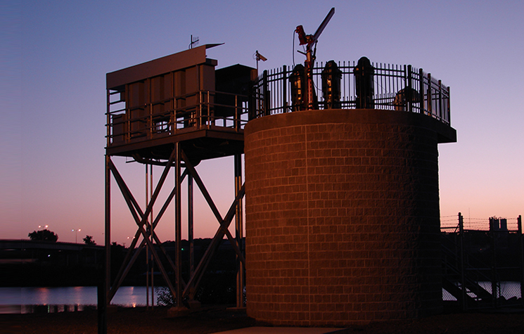Dardanelle Radial Collector Well at Dusk