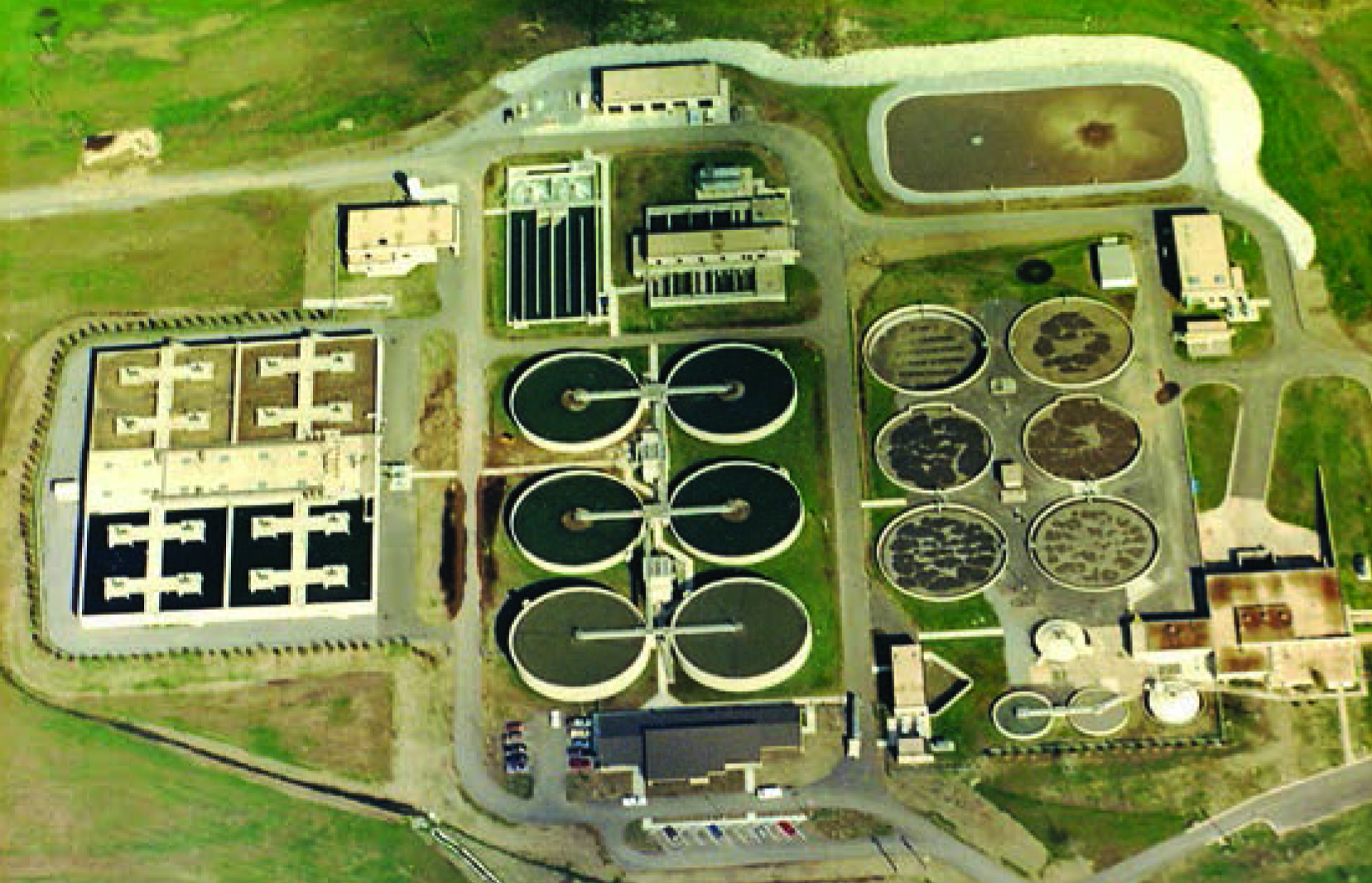 Wastewater treatment, whether its in a large facility like Fayetteville's, seen here from the air, or a small town's lagoon system, is a complicated and important process.